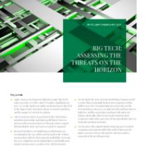 Big Tech: Assessing the threats on the horizon spotlight