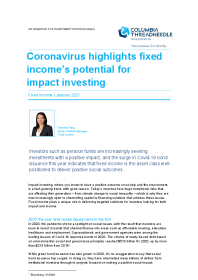 Coronavirus highlights fixed income's potential for impact investing