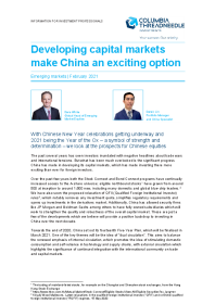 Developing capital markets make China an exciting option