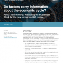 Do factors carry information about the economic cycle?