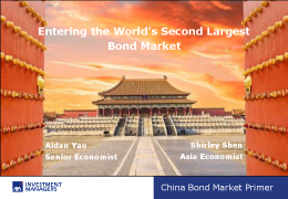 Entering the World's Second Largest Bond Market