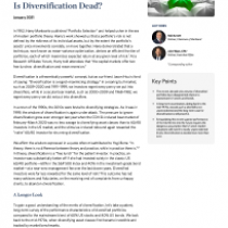 Is Diversification Dead?