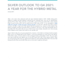 Silver Outlook To Q4 2021: A Year For The Hybrid Metal