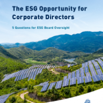 The ESG Opportunity for Corporate Directors