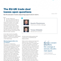 The EU-UK trade deal leaves open questions