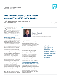 """The """"In-Between,"""" the """"New Normal,"""" and What's Next…"""
