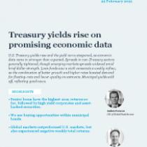 Treasury yields rise on promising economic data