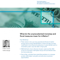 What do the unprecedented monetary and fiscal measures mean for inflation?