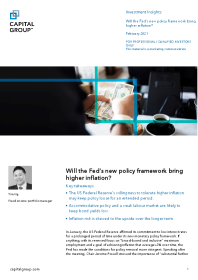 Will the Fed's new policy framework bring higher inflation?