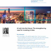 A look into the future: The strengthening case for investing in Asia