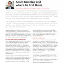 Asset bubbles and where to find them