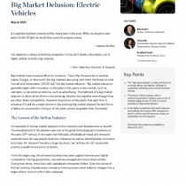 Big Market Delusion: Electric Vehicles