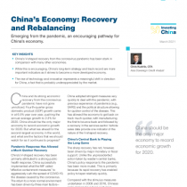 China's Economy: Recovery and Rebalancing