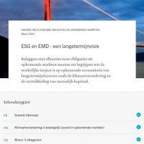ESG en EMD – een langetermijnvisie
