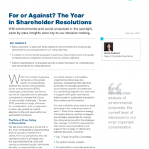 For or Against? The Year in Shareholder Resolutions