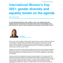 Gender diversity and equality remain on the agenda
