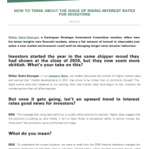 How To Think About The Issue Of Rising Interest Rates For Investors