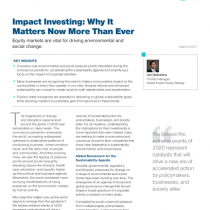 Impact Investing: Why It Matters Now More Than Ever