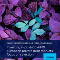 Investing in post-Covid-19 European private debt markets: focus on selection