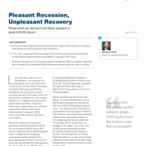 Pleasant Recession, Unpleasant Recovery