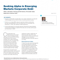 Seeking Alpha in Emerging Markets Corporate Debt