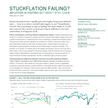 Stuckflation failing? Inflation is visiting but won't stay over