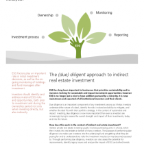 The (due) diligent approach to indirect real estate investment