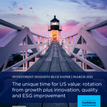 The unique time for US value: rotation from growth plus innovation, quality and ESG improvement
