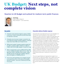 UK Budget: Next steps, not complete vision