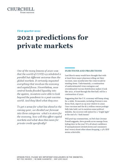 2021 predictions for private markets