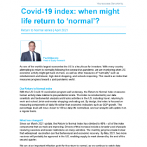 Activity numbers won't all return to where they were before Covid