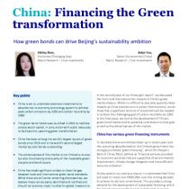 China: Financing the Green transformation