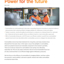 Commodities: Power for the future
