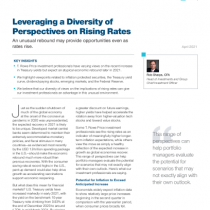 Leveraging a Diversity of Perspectives on Rising Rates