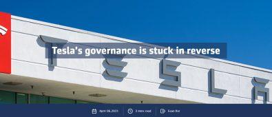 Tesla's governance is stuck in reverse