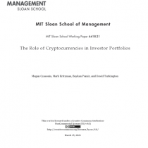 The Role of Cryptocurrencies in Investor Portfolios