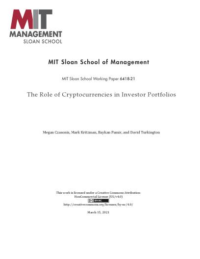 The Role of Cryptocurrencies in Investor Portfolios