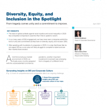 Diversity, Equity, and Inclusion in the Spotlight