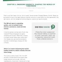 Emerging Markets: Shaping the world of tomorrow