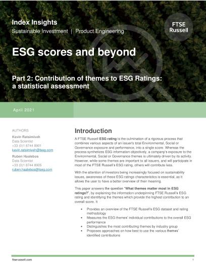 ESG scores and beyond