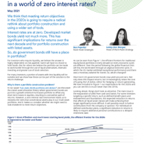 How do you construct portfolios in a world of zero interest rates?