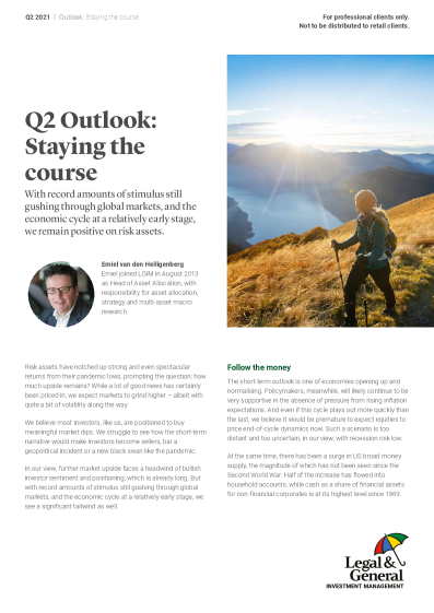 Q2 Outlook: Staying the course