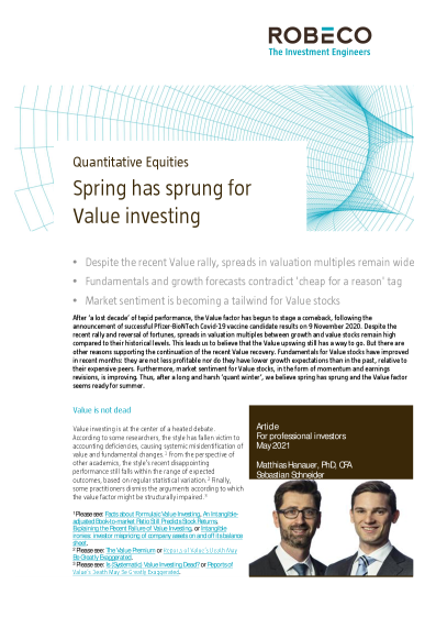 Spring has sprung for Value investing