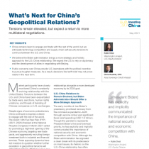 What's Next for China's Geopolitical Relations?