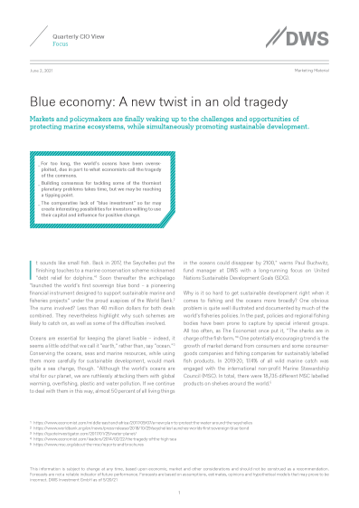 Blue economy: A new twist in an old tragedy