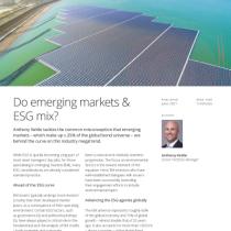 Do emerging markets & ESG mix?