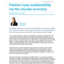 Fashion eyes sustainability via the circular economy