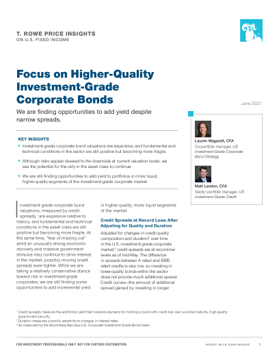 Focus on Higher-Quality Investment-Grade Corporate Bonds
