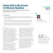 Gains Still to Be Found in Chinese Equities