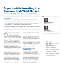 Opportunistic Investing in a Dynamic High Yield Market